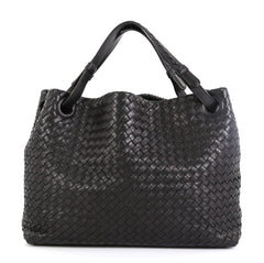Bottega Veneta Bella Tote Intrecciato Nappa Medium Black 4592230