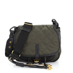 Prada Corsaire Messenger Bag Quilted Nylon and Calfskin Black 45922344