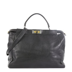 Fendi Peekaboo Bag Soft Leather Large Black 4592241