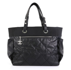 Chanel Biarritz Pocket Tote Quilted Coated Canvas Large