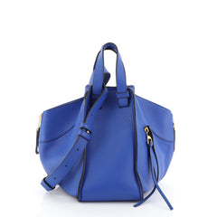 Loewe Hammock Bag Leather Small Blue 459242