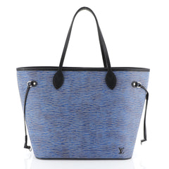 Louis Vuitton Neverfull Tote Epi Leather MM Blue 459621