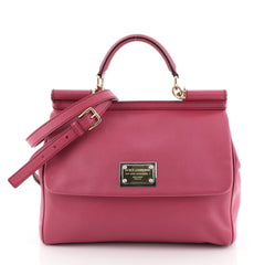 Dolce & Gabbana Miss Sicily Bag Leather Large Pink 4596933