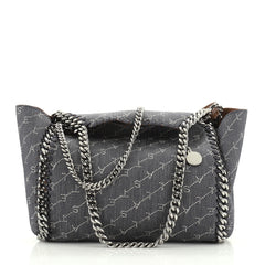 Stella McCartney Falabella Reversible Tote Printed Denim Mini