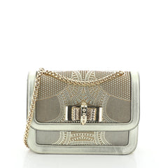 Christian Louboutin Sweet Charity Shoulder Bag Laser Cut Leather Small