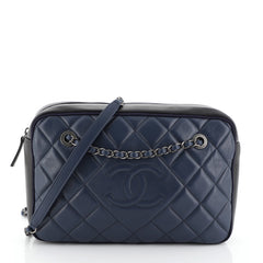 Chanel Ballerine Camera Case Bag Quilted Calfskin Large