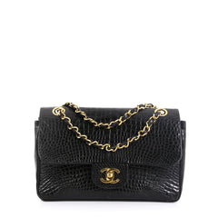 Chanel Vintage Classic Double Flap Bag Alligator Small