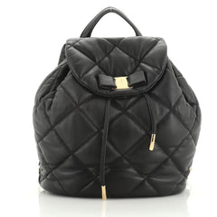 Salvatore Ferragamo Giuliette Backpack Quilted Leather