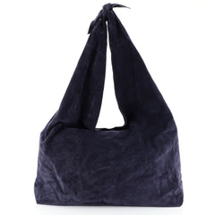 The Row Bindle Knot Hobo Suede Blue 459882