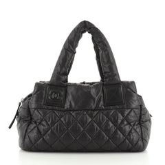 Chanel Coco Cocoon Bowling Bag Quilted Nylon Small