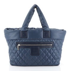Chanel Coco Cocoon Zipped Tote Quilted Nylon Medium