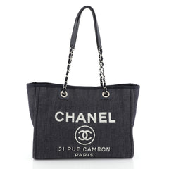 Chanel Deauville Tote Denim Small