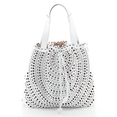 Alaia Bucket Tote Laser Cut Leather