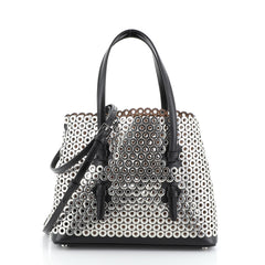 Alaia Open Tote Grommet Embellished Leather Small