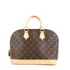 Louis Vuitton Alma Handbag Monogram Canvas PM