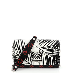 Louis Vuitton Twist Chain Wallet Limited Edition Palm Print Leather with Monogram Infrarouge