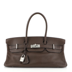 Hermes Birkin JPG Handbag Brown Clemence with Palladium Hardware 42