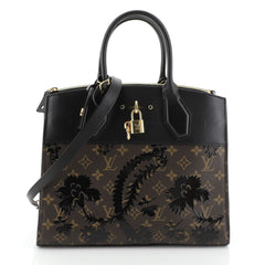 Louis Vuitton City Steamer Handbag Limited Edition Blossom Monogram Canvas and Leather MM
