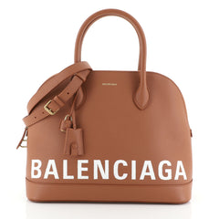 Balenciaga Logo Ville Bag Leather Medium