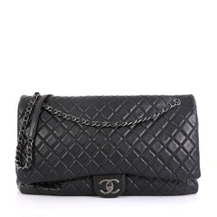 Chanel Airlines CC Flap Bag Quilted Calfskin XXL