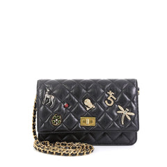 Chanel Lucky Charms Reissue Wallet on Chain Quilted Calfskin