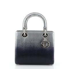 Christian Dior Lady Dior Handbag Ombre Micro Cannage Perforated Calfskin Medium