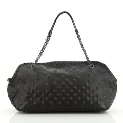 Bottega Veneta Chain Shoulder Bag Studded Leather with Intrecciato Detail Large