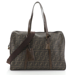 Fendi Convertible Duffle Bag Zucca Coated Canvas Large