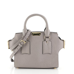 Burberry Clifton Convertible Tote Leather Small