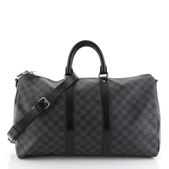 Louis Vuitton Keepall Bandouliere Bag Damier Graphite 45