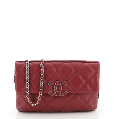 Chanel Double Stitch Hamptons Flap Bag Quilted Calfskin Mini