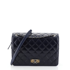 Chanel Day Trip Flap Bag Quilted Glazed Calfskin and Nubuck Medium