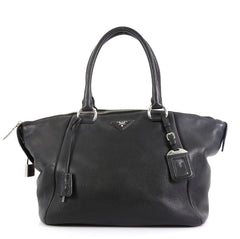 Prada Double Handle Satchel Vitello Daino Large