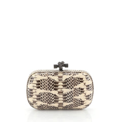 Bottega Veneta Box Knot Clutch Python Small