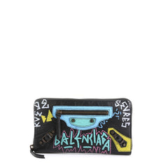 Balenciaga Graffiti Classic Zip Wallet Leather