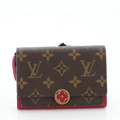 Louis Vuitton Flore Wallet Monogram Canvas Compact