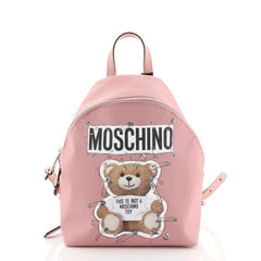 Moschino Teddy Bear Backpack Printed Leather