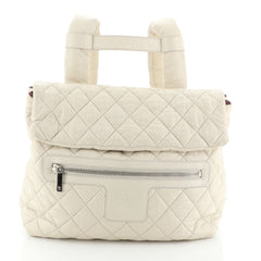 Chanel Coco Cocoon Flap Backpack Quilted Nylon