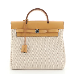 Hermes Herbag A Dos Backpack Toile