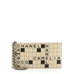 Chanel Crossword Pochette Quilted Leather