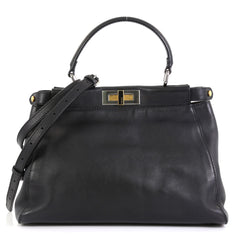 Fendi Peekaboo Bag Soft Leather Regular