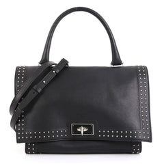 Givenchy Shark Convertible Satchel Studded Leather Small