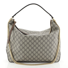 Chain Hobo GG Coated Canvas Large
