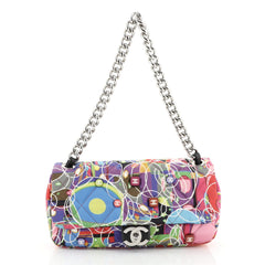 Chanel Kaleidoscope Chain Flap Bag Quilted Printed Satin Medium