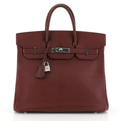 Hermes Birkin Handbag Red Chevre de Coromandel with Palladium Hardware 35