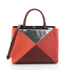 Fendi Multicolor 2Jours Bag Leather Petite