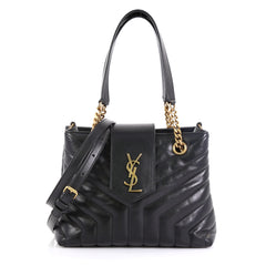 Saint Laurent LouLou Tote Matelasse Chevron Leather Small