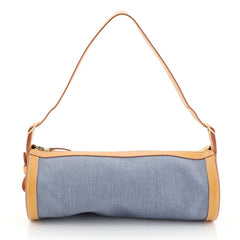 Hermes Sac Doremi Bag Denim with Leather Medium