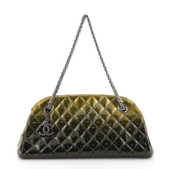 Chanel Just Mademoiselle Degrade Bag Quilted Patent Medium