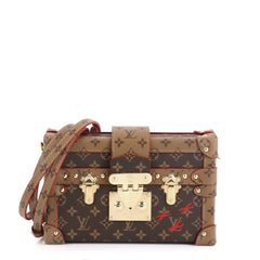Louis Vuitton Petite Malle Handbag Reverse Monogram Canvas